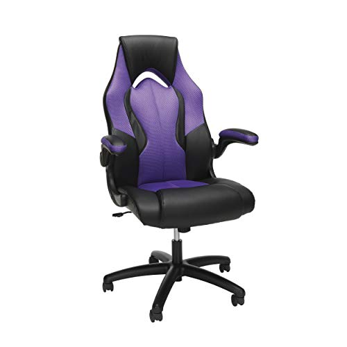 OFM Essentials Collection High-Back Racing Style Bonded Leather Gaming...