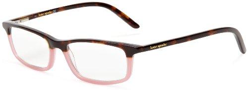 Kate Spade New York Women's Jodie Non Polarized Rectangular Reading Glasses, Tortoise Pink/Clear, 50 mm 2.5