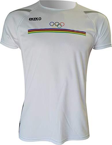 Ekeko OLIMPICA, Camiseta Hombre Manga Corta, para Running,...