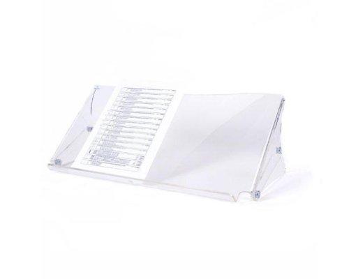 Dataflex 49.400 Addit ErgoDoc Dokumentenhalter, Höhenverstellbar 136-206 mm in 6 Schritten, transparent