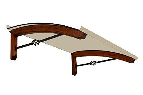 BELLHOUSE COPERTURE Marquesina de Madera Mod. Legno Pigna Teck - Prof.90 Alt.42 Long.150 cm-Transparent