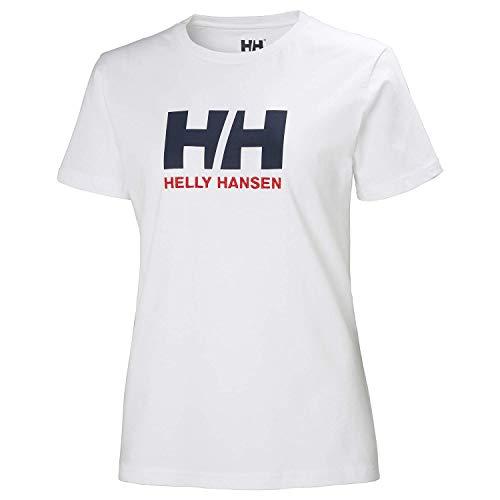 Helly Hansen HH Logo Camiseta Manga Corto, Mujer, White, L