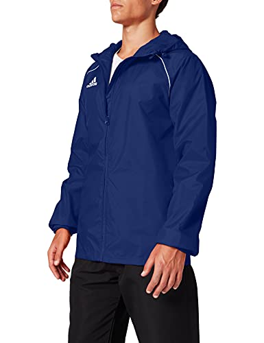 adidas Core18 Rain Jacket, Uomo, Dark Blue/White, L