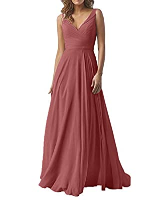 This simple and elegant chiffon dress is perfect for wedding, evening, prom and other special occasions. Size:please carefully check our size chart image(not amazon size chart link),or email us your detailed measurements (bust,waist,hips,shoulder wid...