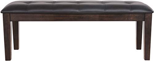 Signature Design by Ashley - Haddigan Upholstered Dining Room Bench - Casual Tufted Seating - Dark Brown
