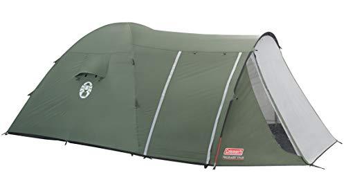 Coleman Zelt Trailblazer 5 Plus, 5 Mann Zelt, 5 Personen Tunnelzelt, Campingzelt, Kuppelzelt mit Sonnendach, wasserdicht WS 3.000mm