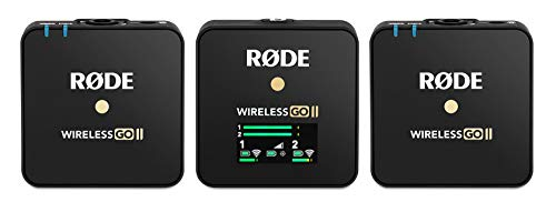 Rode Wireless Go II Dual Channel Wireless Microphone System, Black (Model Number: WIGOII)