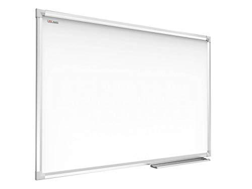 ALLboards Lavagna Bianca Magnetica Cancellabile a Secco, Cornice Sottile in Alluminio | 100x80 cm |...