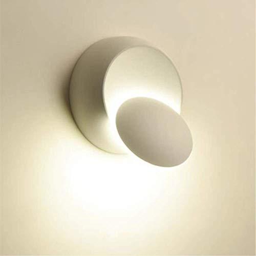 Lampada da Parete Moderna Plafoniera Girevole a 360 Gradi, Lampade Creative Scale a Corridoio Rotondo, Adatto per Camere da Letto, Soggiorni, Ristoranti (bianca)