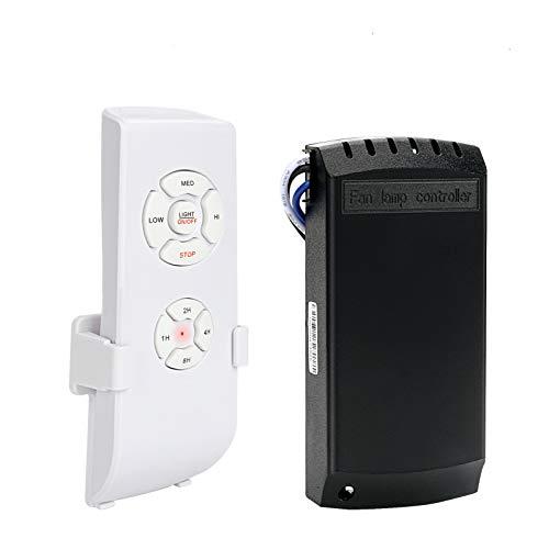 Kit telecomando ventilatore, E-More Kit telecomando wireless universale per ventilatore a soffitto con 4 tempi 3 velocit e controllo della luce per la sala espositiva dell'hotel per l'ufficio