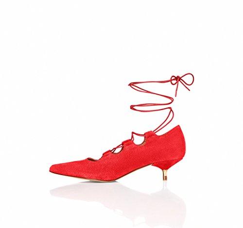 find. Escarpins Petits Talons Femme, Rouge (Red), 40 EU