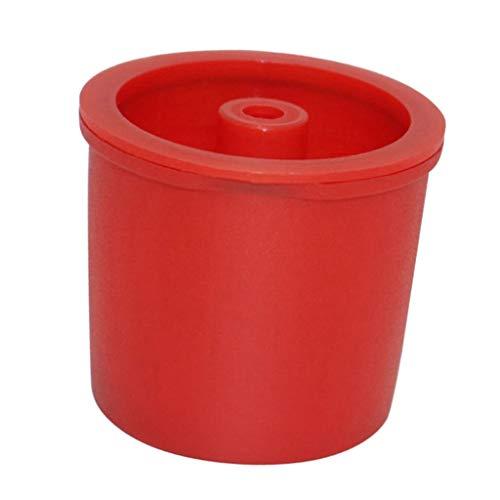 F Fityle Filtri Riutilizzabili Capsule di caffè Espresso Ricaricabili per Illy Iperespresso - Rosso, Come descritto