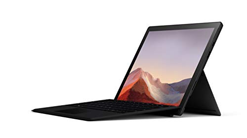 Microsoft Surface Pro 7 – 12.3' Touch-Screen - 10th Gen Intel Core i5 - 8GB Memory - 256GB SSD (Latest Model) – Matte Black with Black Type Cover, Model: QWV-00007
