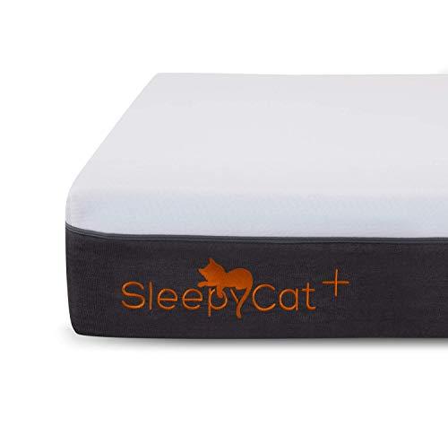 SleepyCat Plus 8 Inch Orthopedic Memory Foam King Size Mattress (78x72x8 Inches, Gel Memory Foam)