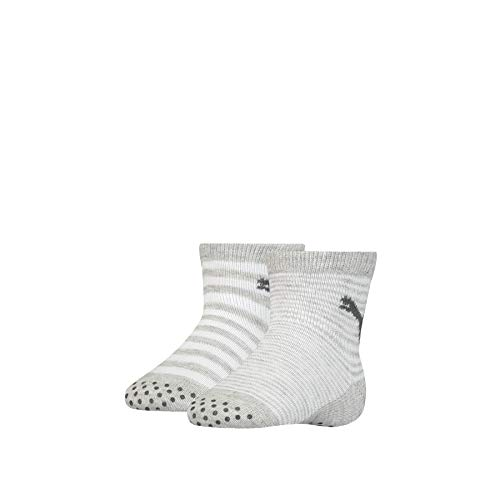 PUMA ABS Baby Socks (2 Pack) Calzini, Grigio, 23-26 (Pacco da 2) Unisex-Bimbi