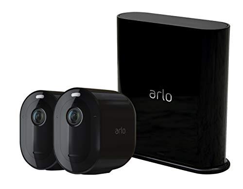 31uJK8pqIEL [Bon plan] Pack Arlo composé de : 2 Caméras Pro 3 et Sonnette Vidéo Connectée sans Fil - Noir