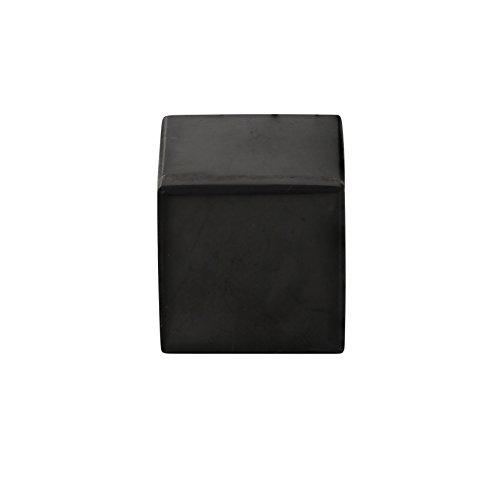 Heka Naturals Cubo de Shungita Pulido 5 cm, Contiene Fullerenos para Protección contra CEM   Auténticas Piedras Shungita de Karelia Usadas para Meditación y Equilibro Energético   Cubo de 5 cm