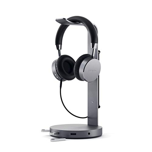 Satechi Aluminum USB Headphone Stand Holder with 3 USB 3.0 Ports &...