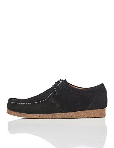 Marca Amazon - find. Zapato de Ante estilo Hombre, Negro (Black), 42 EU