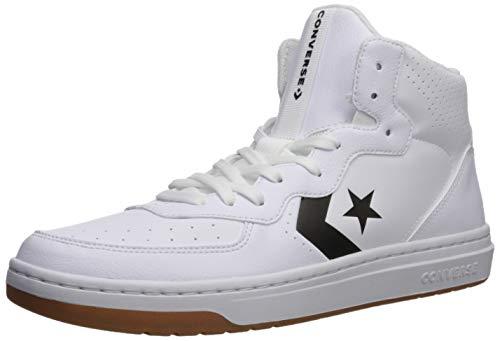 Converse Men's Rival Shoot for The Moon Sneaker, White/Black/White, 9 M US