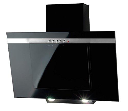 Akpo, cappa aspirante, colore: nero, WK-4, 50 cm/320m3/h, cappa per camino, cappa da parete