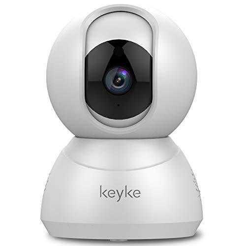 Telecamera da interno Dual Connetivittà WIFI e Cavo LAN 1080p,Videocamera di Sorveglianza con Pan-tilt,Notifiche in Tempo Reale,Sensore di Movimento,Visione Notturna a infrarossi,Audio Bidirezionale