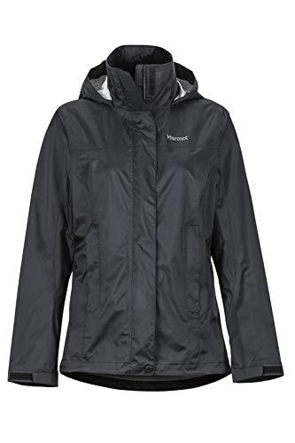 Marmot Damen Wm\'s PreCip Eco Jacket Hardshell Regenjacke, Winddicht, wasserdicht, atmungsaktiv, Black, M