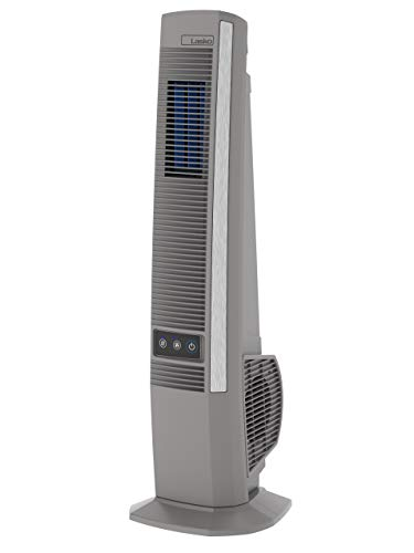 Lasko YF202 Oscillating Tower Fan for Decks, Patios, Porches, and Outdoor Living – Create Your Backyard Paradise, 42 in, Grey
