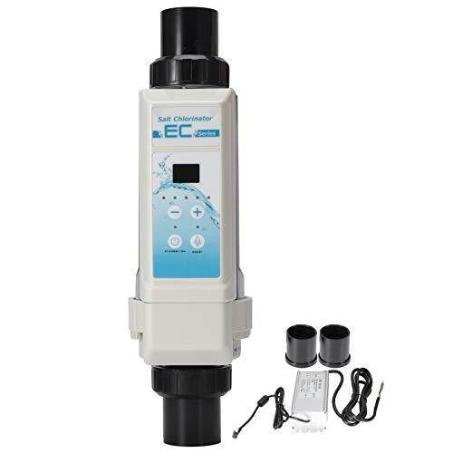 GéNéRateur de Chlore au Sel, ÉLectronique Machine de Chlore au Sel, 8 G/H ÉLectrolyseur de Chlore SystèMe de Chloration de L'Eau SystèMe de Filtre de Piscine D'Eau SaléE pour SPA