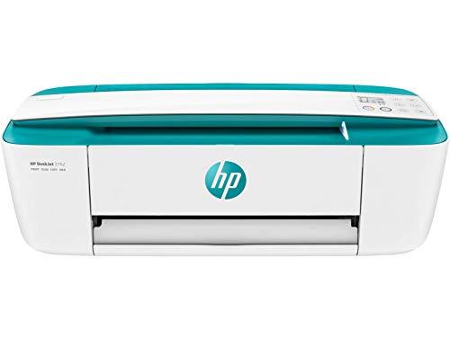 HP DeskJet 3762 T8X23B Stampante Fotografica Multifunzione A4, Stampa, Scansiona, Fotocopia, Wi-Fi, HP Smart, USB 2.0, No Stampa Fronte/Retro Automatica, 2 Mesi di HP Instant Ink Inclusi, Verde Aqua