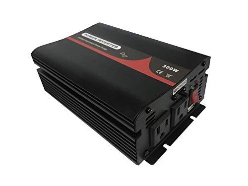 純正弦波インバーター 定格300W 最大600W 輸入電圧 12v/24v 輸出電圧100v (BERT-300-50/60-12-100)
