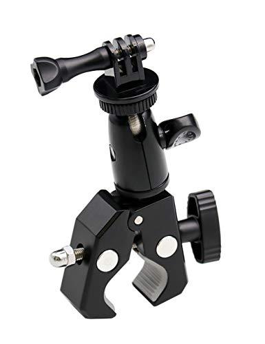 Exshow Supporto per videocamera per bici, in metallo, per attacco da 1/4-20, per videocamere GoPro Hero 5, 4, 3+, 3, 2, 1, Canon, Nikon, Sony, ecc