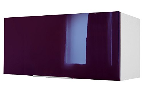 Berlioz Creations - Mobile alto da cucina sopra cappa, Altro, Bordeaux molto lucido, 60 x 34 x 35 cm