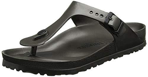 Birkenstock Unisex Gizeh Essentials EVA Sandals, Metallic Anthracite, 37 R EU, 6-6.5 Women/4-4.5 Men M US