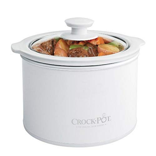 Crock Pot 1 to ½ Quart Round Manual Slow Cooker, White