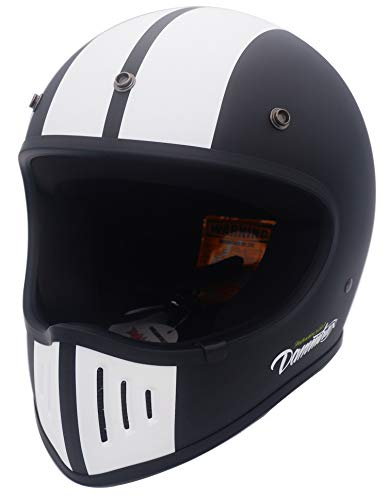 ダムトラックス(DAMMTRAX) バイクヘルメット フルフェイス BLASTER COBRA - 改 マットブラック Mサイズ (57-58cm) -