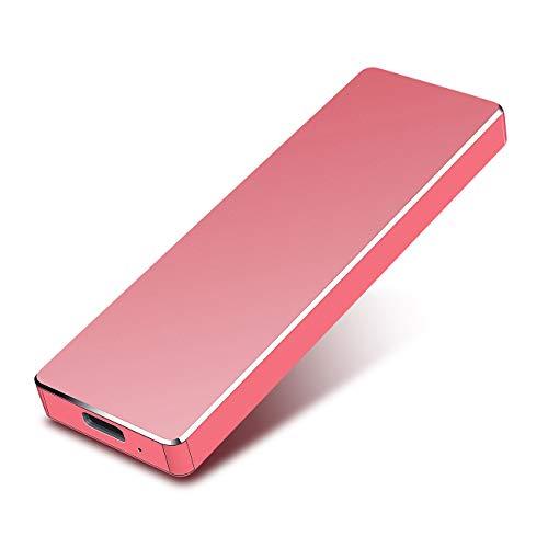 PAATE 2 TB Hard Disk Esterno Portatile Ultra Slim Type C USB 3.1 Hard Disk per PC, Mac, Windows,...