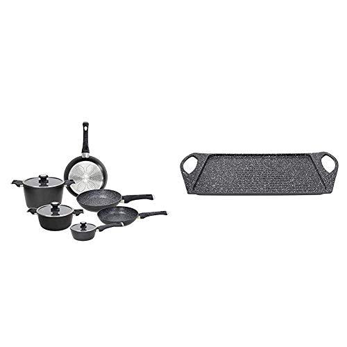 Tognana Sphera Set di pentole, Alluminio & Sphera Grill Rettangolare, Alluminio