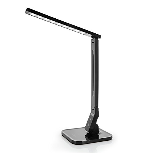 Tenergy 7W Dimmable LED Desk Lamp, 530 Lumens with 5 Dimming Levels, Touch Control with Auto Sh…