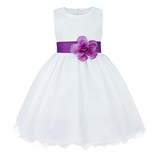 IEFIEL Vestido de Fiesta para Niña Vestido Elegante de Dama