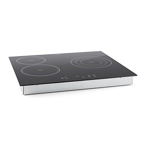 Klarstein Virtuosa Piano Cottura in Vetroceramica 3 Zone (5300 Watt totali, 9 livelli di temperatura regolabili, allarme sonoro, timer, spegnimento automatico)