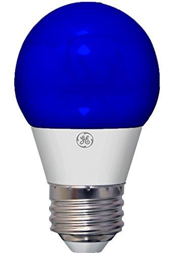 GE Lighting LED Party Light Bulb, 40-Watt Replacement, A15, 1-Pack, Blue LED Light, Medium Base