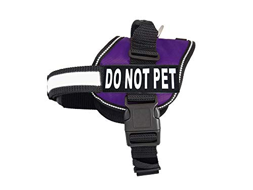 DO NOT PET Dog Vest Harness with Removable Patches...