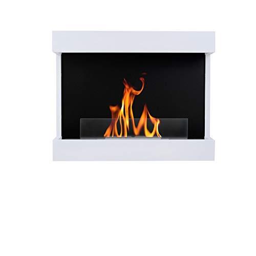 AFLAMO Bio-Fireplace Wall Fireplace Carter 60 White