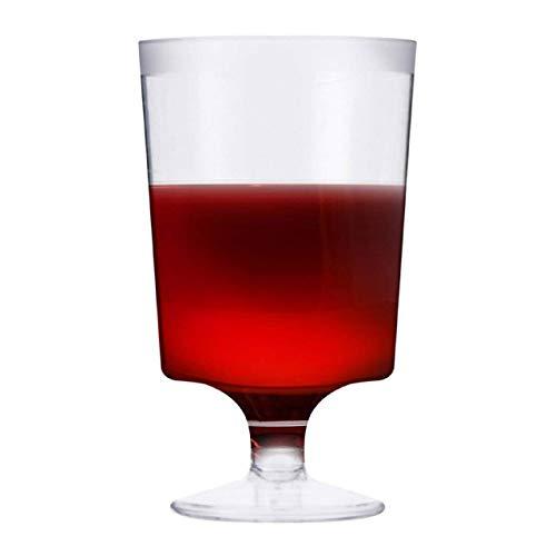 Matana 50 Bicchieri da Vino in Plastica Trasparenti, Calici da Vino - 180ml