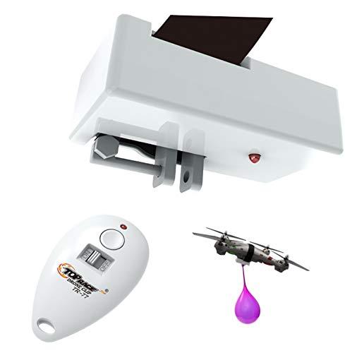 Top Race Clip di consegna per lanciatore di oggetti Clip per drone, dispositivo di lancio per drone, pu contenere fino a 2 libbre e telecomando a 300 piedi di distanza TR-77