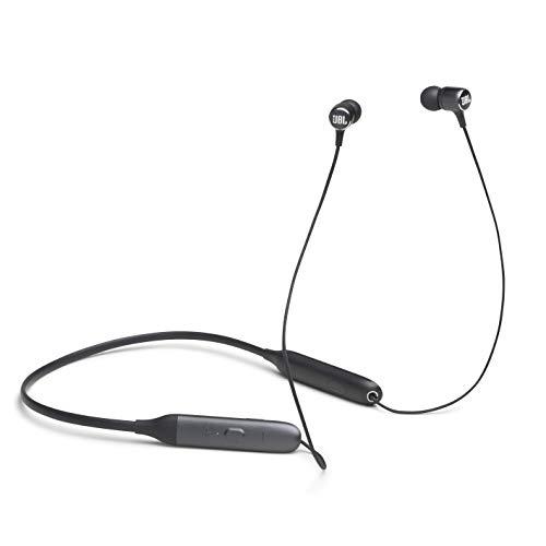 JBL LIVE 220BT kabellose In-Ear Kopfhörer in Schwarz – Bluetooth Ohrhörer mit 4-Tasten-Fernbedienung, Nackenbügel, Mikrofon & Alexa-Integration – Unterwegs telefonieren und Musik hören