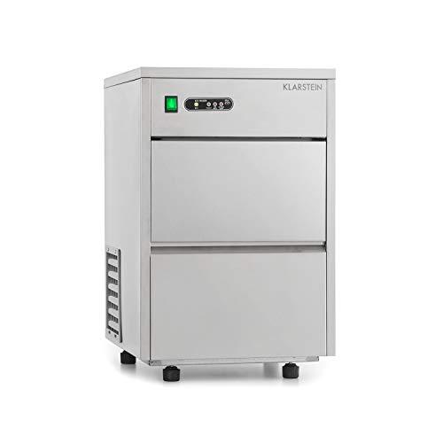 KLARSTEIN Frostica - Macchina Professionale per Ghiaccio, Ghiaccio in Scaglie, 20kg/24h, Capacit 3,5...