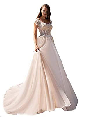 New Design 2021 Women's Wedding Dresses,Elegant Cute Lace Tulle Appliques Boho Boheim Church Graden Bridal Gowns for Bride.Custom Made Wedding Dresses please contact with us.modern fitted church graden indoor outdoor destantion wedding dresses. Tulle...