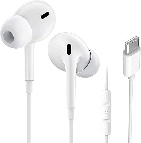 Auricolari USB di tipo C, Cuffie Stereo con filo per Auricolari Cablate con Cancellazione del Rumore con Microfono e Telecomando, Compatibili con Huawei Mate 30 20Pro, P40 30 20Pro